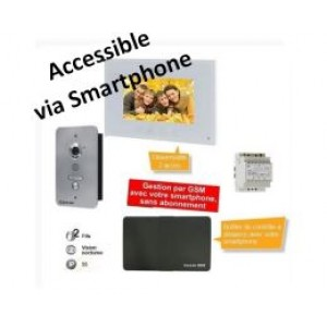 Kit vidéophone Care-In encastré, 2 fils avec alimentation + module de vision à distance Care-in Box -SWKVE1CIBOX-Sewosy