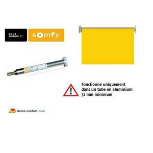 Moteur seul ROLL UP WIREFREE RTS 1/27 pour store rouleau intérieur Somfy-SY1002154-Somfy
