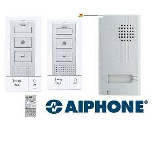Kit portier audio 2 fils intégrales, mains libres, 2 postes int. DB2INT AIPHONE-AIDB2INT-Aiphone